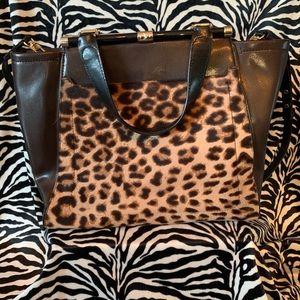 Vintage DVF leopard Bag
